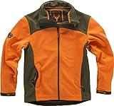 Work Team Cazadora workshell alta visibilidad, combinada, con 2 bolsillos laterales. HOMBRE Naranja AV/Verde Caza L