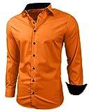 Baxboy - Camisa de manga larga para hombre, de corte ajustado, fácil de planchar, para trajes, trabajo, bodas, tiempo...