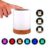 Lampara decorativa tactil con luz LED de colores para mesa, sobremesa o mesilla de noche | Lamparita RGB pequeña y...