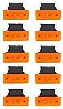 10 unidades de luces de galibo laterales con 6 luces led, para camión, caravana, 24 V, color naranja