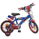 Toims 876 Spiderman Bicicleta para niños, dise&ntilde, tamaño 16' - 5/8 años