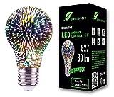 Bombilla LED greenandco® con efecto de fuegos artificiales en 3D para la iluminación decorativa de ambientes E27 A60...