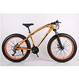 VANYA Bicicleta de montaña 26 Pulgadas 24 Velocidad Off-Road ATV Moto de Nieve Doble Freno de Disco 4.0 Ensanchado...