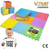 Stomping Ground Toys - 18 Alfombras Puzzle EVA Coloridas Alfombras de Foam Encajables para Actividades Infantiles en el...