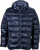 James & Nicholson Daunenjacke Men's Down Jacket Chaqueta, Naranja (Dark-Orange/Carbon), Medium (Talla del Fabricante:...