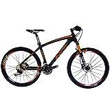 Bicicleta de montaña Beiou® con suspensión delantera y sistema Shimano M610 Deore de 30 velocidades, de fibra de...