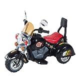 HOMCOM Moto Electrica Infantil Bateria Recargable Niño 3 Años Cargador 3 Ruedas 2.5km/h