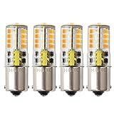 HRYSPN 1156 Ba15s P21 led Bombilla 12V 5W, cálido blanco 3000k, para barco, RV, automóvil, Iluminación del paisaje,...