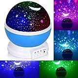 Adoric Proyector Lámpara De Dormir Lámpara Infantil Lámpara Proyector Infantil 360 Grados De Rotación 3 Modo de Luz...