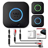 Receptor Bluetooth, Adaptador de Audio Inalámbrico Hi-Fi, 1Mii Adaptador Bluetooth 4.2 con 3D Surround aptX baja...