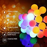 BACKTURE Cadena de Luces Multicolor, Blanco Cálido 2-IN-1, Guirnalda Luces 10M 100 LED 8 Modos, Cuerda Luces...