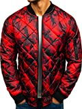 BOLF Hombre Chaqueta Bomber J.Style RZ09 Rojo XXL [4D4]