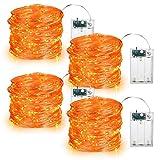 Guirnalda Luces de Halloween (A Pilas), Luces LED para Decoraciones de Exterior e Interior, 5 Metros 50 LED (Color...