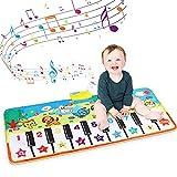 Alfombra de Piano, Alfombra Musical de Teclado, Alfombra Piano de Animales para Niños Niñas, Alfombrilla Musical...