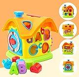 GizmoVine Juguetes Bebes 1 año Cubo de Actividades 7 en 1 Juguetes educativos interactivos para niños pequeños