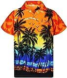 V.H.O. Funky Camisa Hawaiana, Beach, Naranja, L