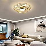 Lámpara De Sala LED Lámpara De Techo Lámpara De Techo Redonda Moderna De 4 Anillos Regulable (3000-6000K)...