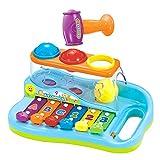 eastsun Early Education 18 M + Olds Baby Toy Enlighten Xilófono con 3 bolas de colores / Martillo pequeño para niños...