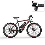 LANKELEISI RS600 700C Bicicleta eléctrica, batería de 36V 20Ah, Freno de Disco, kilometraje de Resistencia de hasta 70...