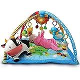VTech Mantita de juego cantarín 2 en 1, manta y gimnasio de aprendizaje para bebé con más de 40 canciones, frases y...