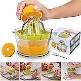 Yoyika 4 en 1 Exprimidor Zumo Manual, Exprimidor de Mano Portátil para Naranja Limón Lima y Cítricos, Rallador de...