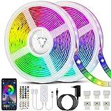 Bonve Pet 20M Tiras LED RGB 5050, Bluetooth Musical Tiras LED 600 LEDs Tiras de Luces LED Iluminación, Control de APP y...