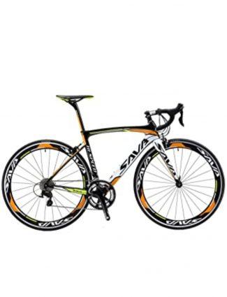 Bicicleta de color naranja